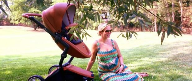 Monika Absolonová během fotografování. Foto: Facebook M. Absolonové.
