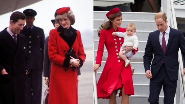 Kate se také občas nechává inspirovat stylem Lady Diany.
