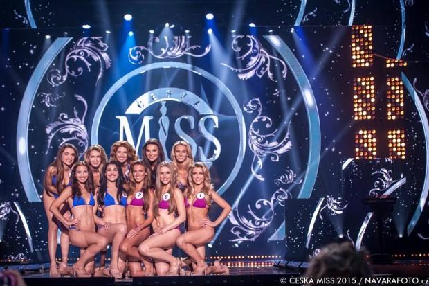 Finalistky České Miss 2015. Foto: Facebook Česká Miss.