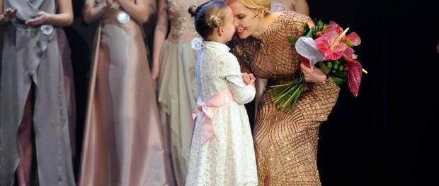 Kateřina Kristelová s dcerou. Foto: Miss Junior 2015.