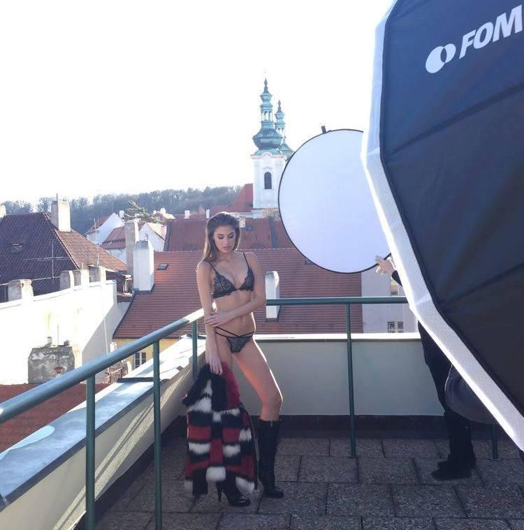 Zimou se modelka nenechala odradit. Foto: Facebook T. Budkové.