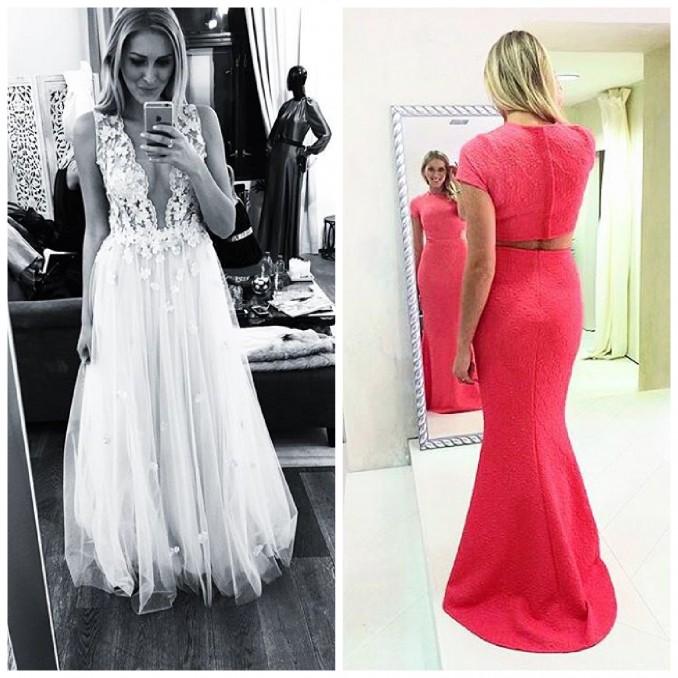 Co myslíte vy? Které šaty nakonec Zorka oblékne? Foto (2x): Instagram Z. Hejdové.