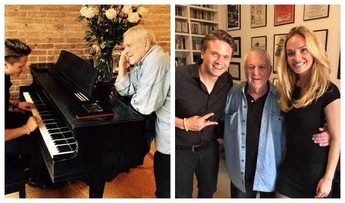 Oblíbený pár ve společnosti slavného skladatele. Foto: Instagram T. Kuchařové.