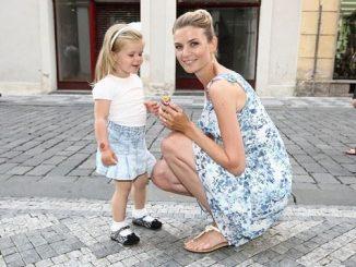 Iveta s dcerou Anetkou. Foto: Facebook Stefanel Prague.