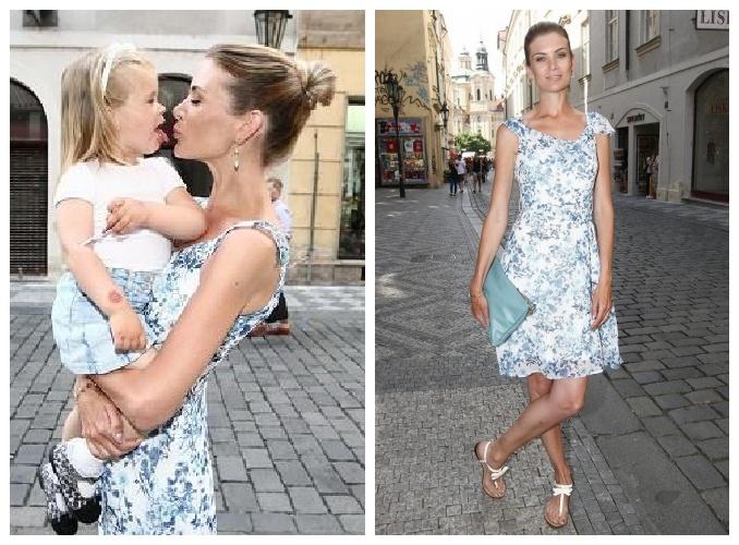 Modelka dorazila na Opening party Stefanel Prague i s dcerou. Foto: Facebook Stefanel Prague.