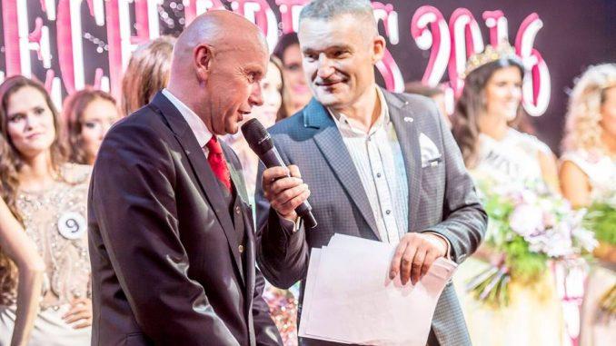 Pořadatel Jiří Morštadt a moderátor Vláďa Hron. Foto: Facebook Miss Czech Press.