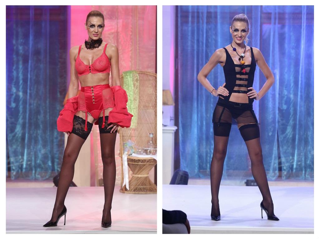Modelka Kateřina Průšová na přehlídce Le Chaton, zdroj: HerminaPress