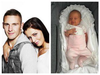 Krásná Tereza Chlebovská se svým snoubencem a dcerkou, zdroj: Jan Zátorský a Instagram T. Chlebovské