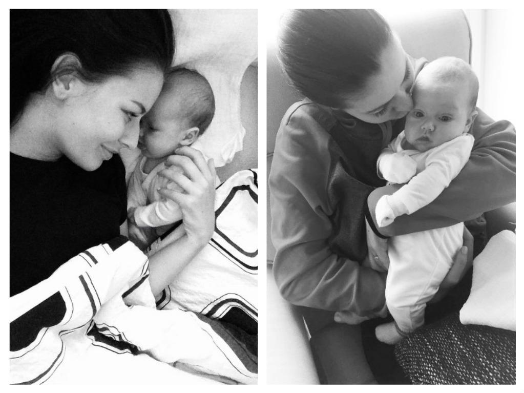 Pyšná maminka se svou dcerkou Emou, zdroj: Instagram T. Chlebovské