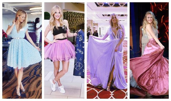 Natálie Kotková vystřídala na Miss World mnoho šatů. Foto: FB Miss World; FB N. Kotkové.