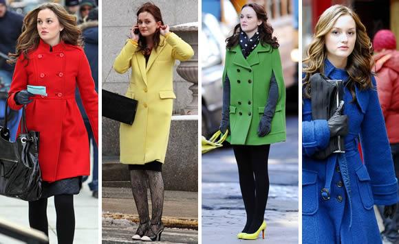 Leighton Meester coby Blair Waldorf v seriálu Gossip Girl sází na barevné kabáty. Co máte na zimu připraveno vy?