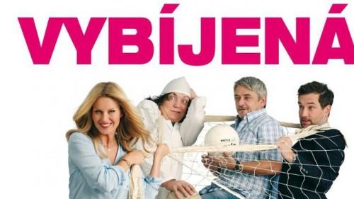 Simona Krainová s kolegy na plakátu k filmu Vybíjená.