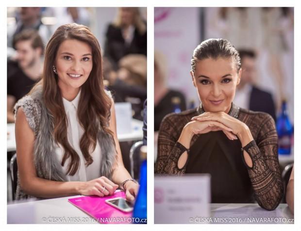 Nechyběla ani Nikol Švantnerová (vlevo) a Iva Kubelková. Foto: Česká Miss.