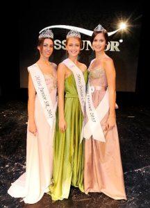 Vítězky na společné fotografii. Foto: Miss Junior 2015.
