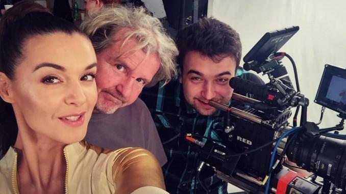 Iva s režisérem F.A.Brabcem. Foto: Facebook I. Kubelkové.