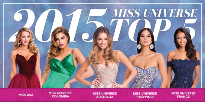 TOP 5. Foto: Miss Universe.