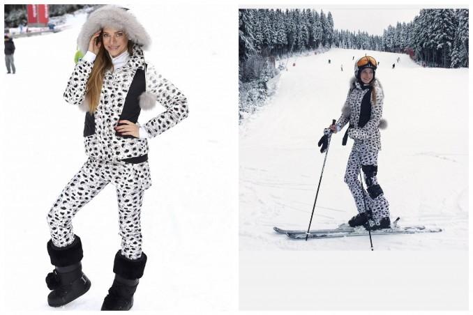 V tomto modelu se Andrea předvedla na svahu. Zimní sporty má ráda. Foto (2x): Facebook A. Verešové.