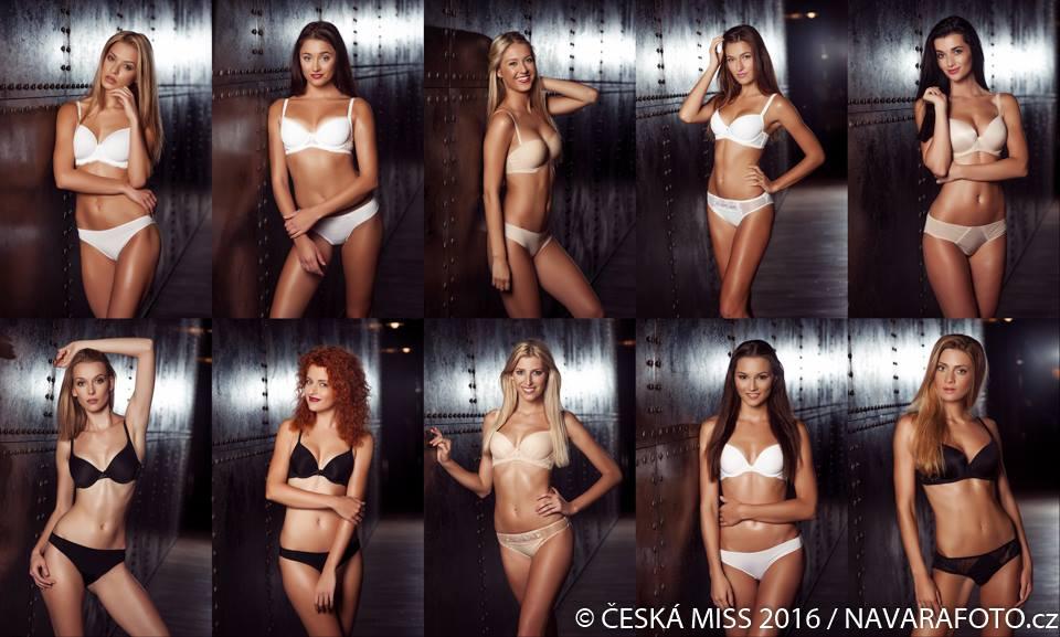 Finalistky ve spodním prádle Astratex. Foto: Facebook Česká Miss.