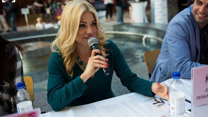 Moderátorka Eva Perkausová. Foto: Facebook Miss Face.
