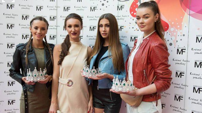 Taťána Makarenko spolu s loňskými vítězkami. Foto: Facebook Miss Face.