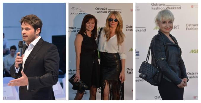 Miroslav Šimůnek, Beata Rajská se Simonou Krainovou a Bára Nesvatbová (zleva). Foto: Ostrava Fashion Weekend.