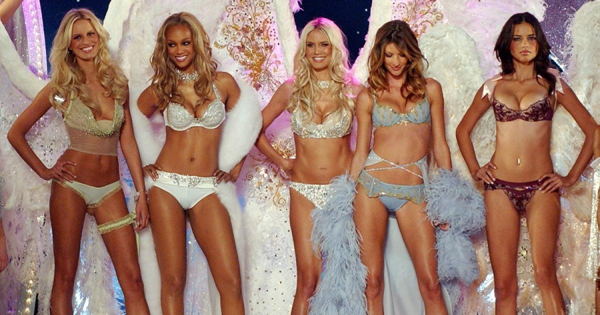 Ikonické modelky Karolína Kurková, Tyra Banks, Heidi Klum, Gisele Bündchen a Adriana Lima, zdroj: Victoria's Secret