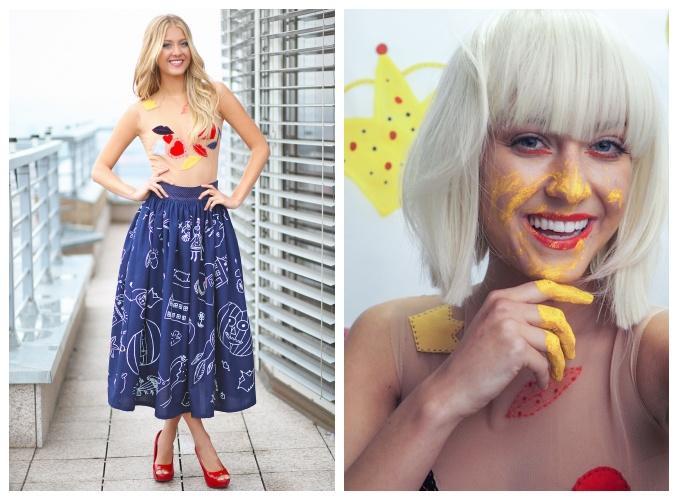 A to už jsou výsledné šaty. Foto: Česká Miss.