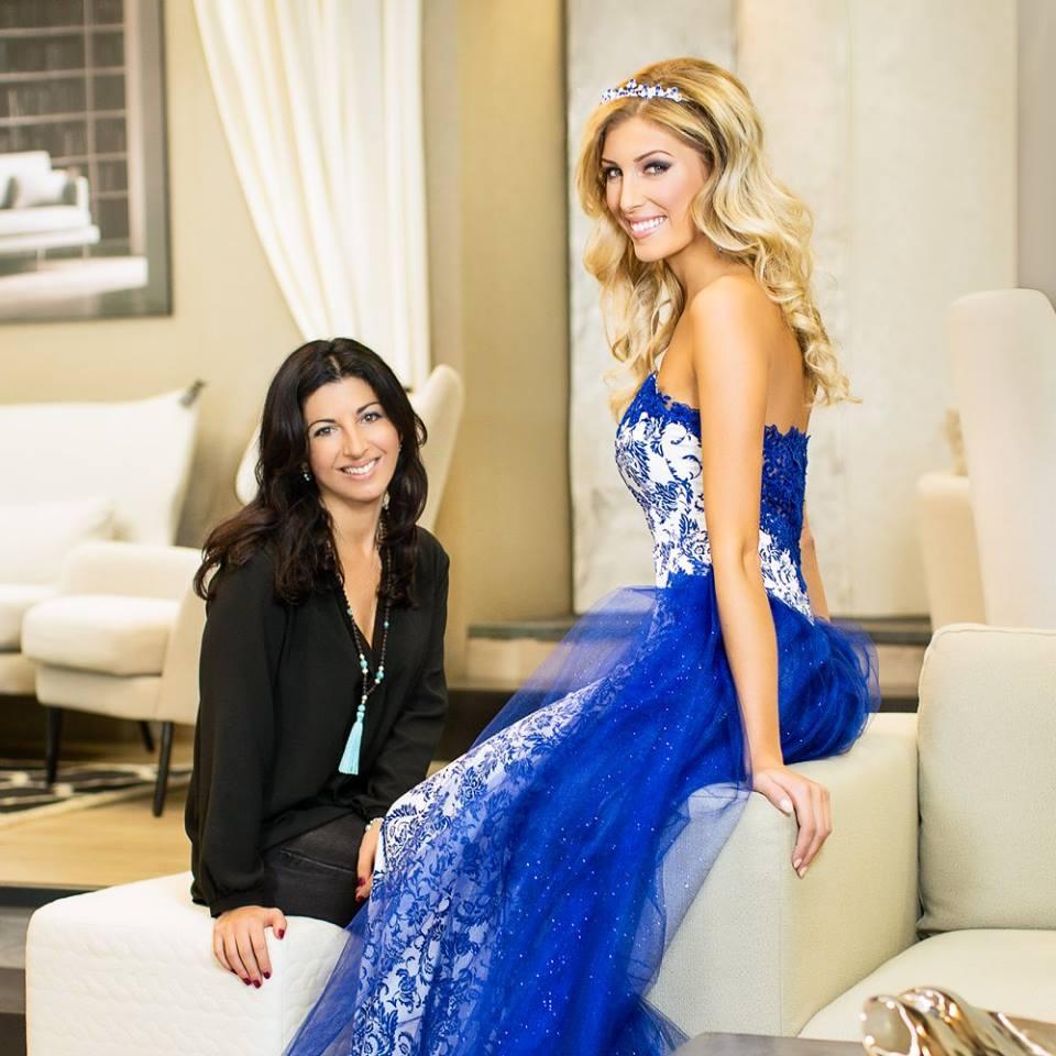 Krásná Michaela Hávová v šatech návrhářky Terezy Sabáčkové, zdroj: facebook T. Sabáčkové