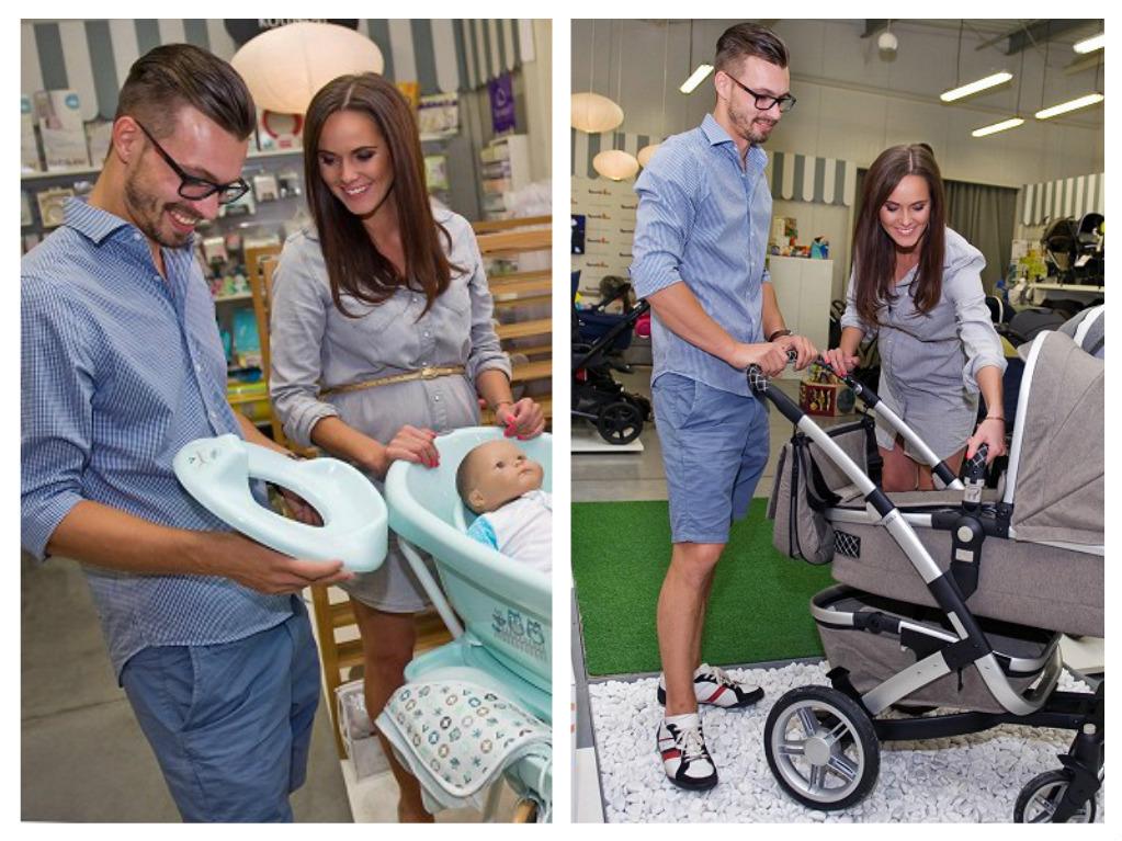 Renáta Czadernová s přítelem Petrem při nákupu výbavičky, zdroj: Špuntík